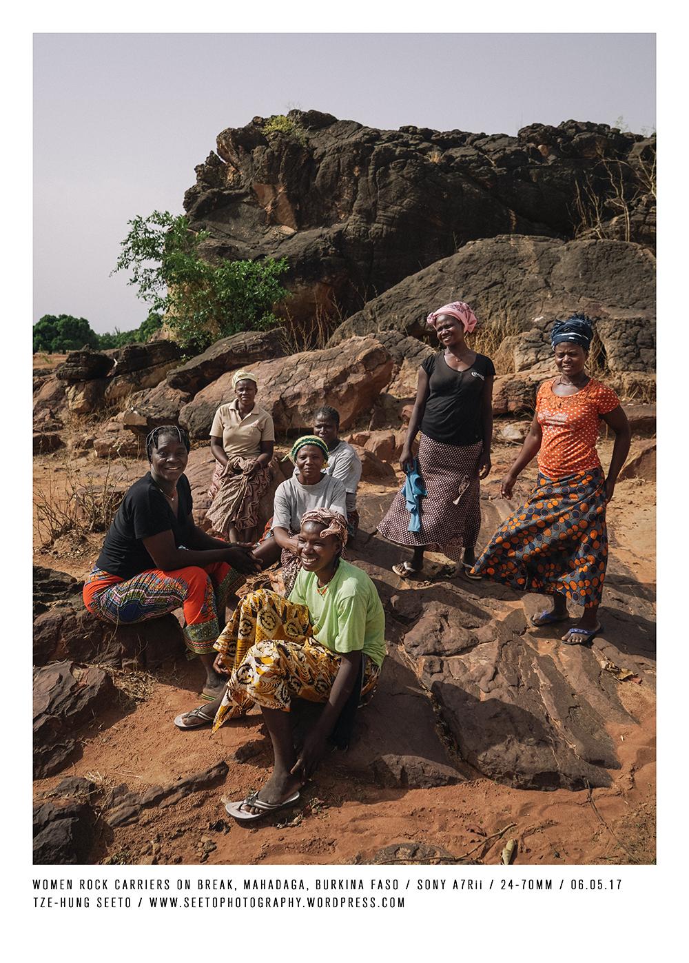 Burkina Faso, Mahadaga_Women workers taking break, CP.jpg