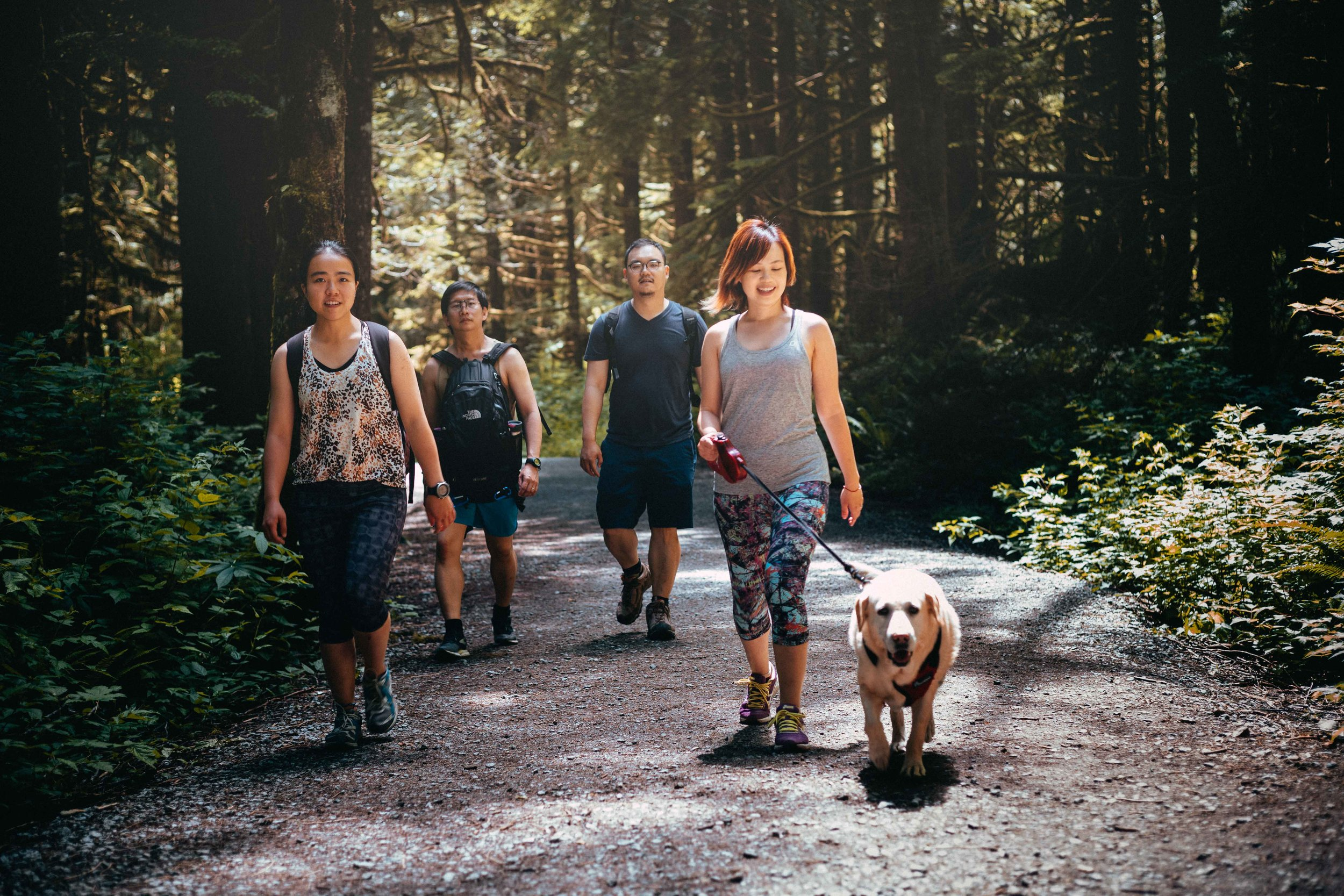Hiking with friends (and cute doggos) is such a great way to keep active!