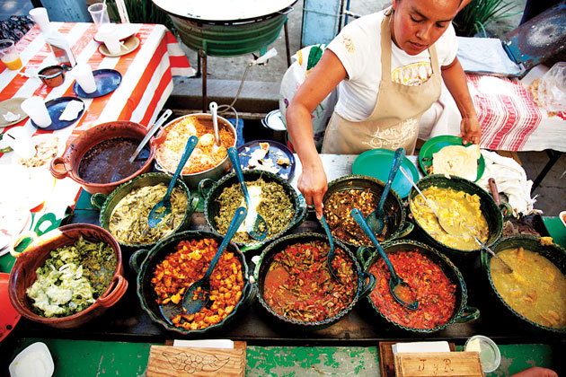 Markets and street food   The first time I traveled to Mexico, I was afraid that if I ate on the street or in markets, I would become deathly ill. As such, I missed out on some of the best food available in this country. Come with me to taste some of the most delicious — and reliable — street stalls, holes-in-the-wall and markets in the city. I'll also take you to a city market and show you how it works, and you'll have an opportunity to buy some souvenirs.