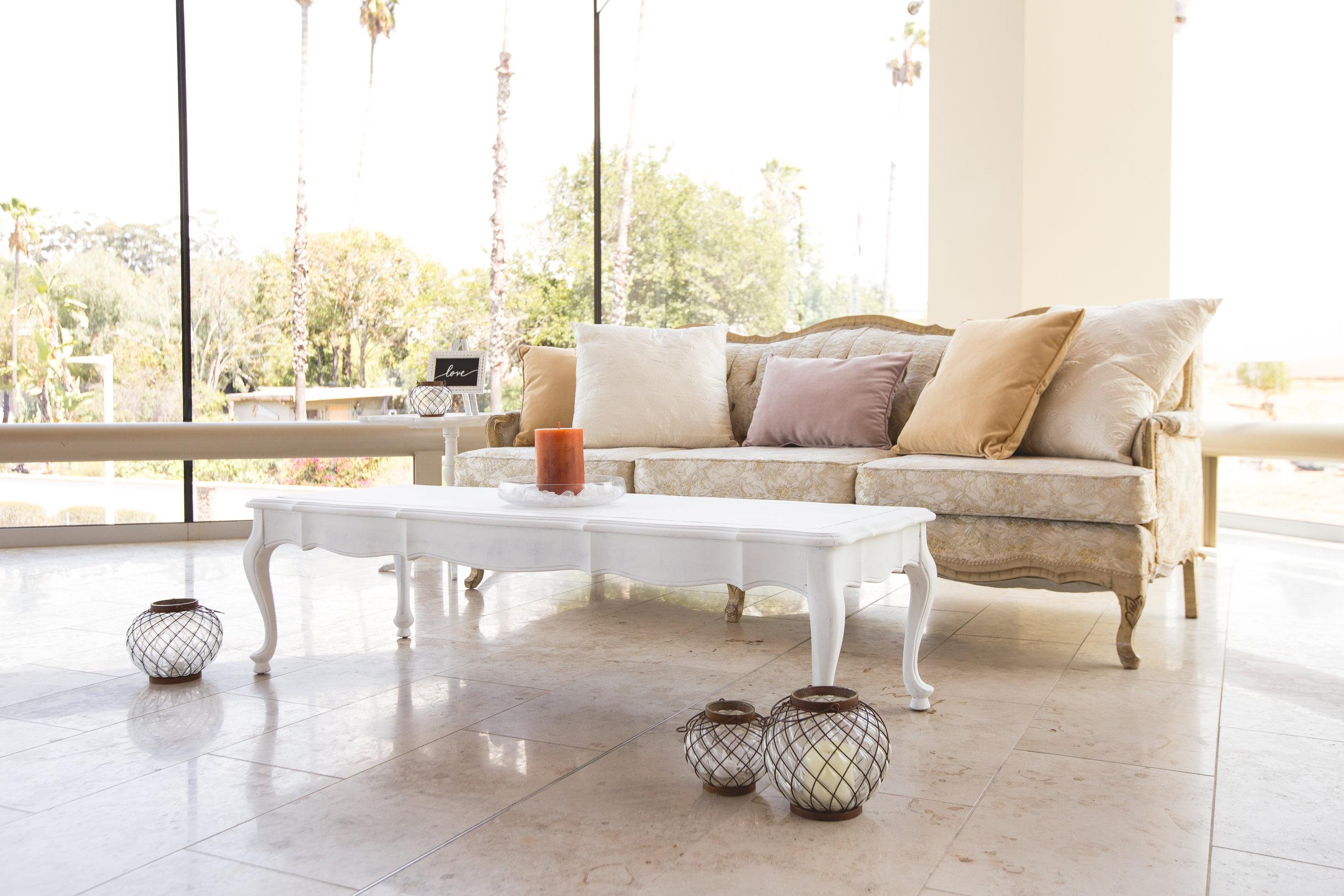 White Vintage Sofa - $150.00