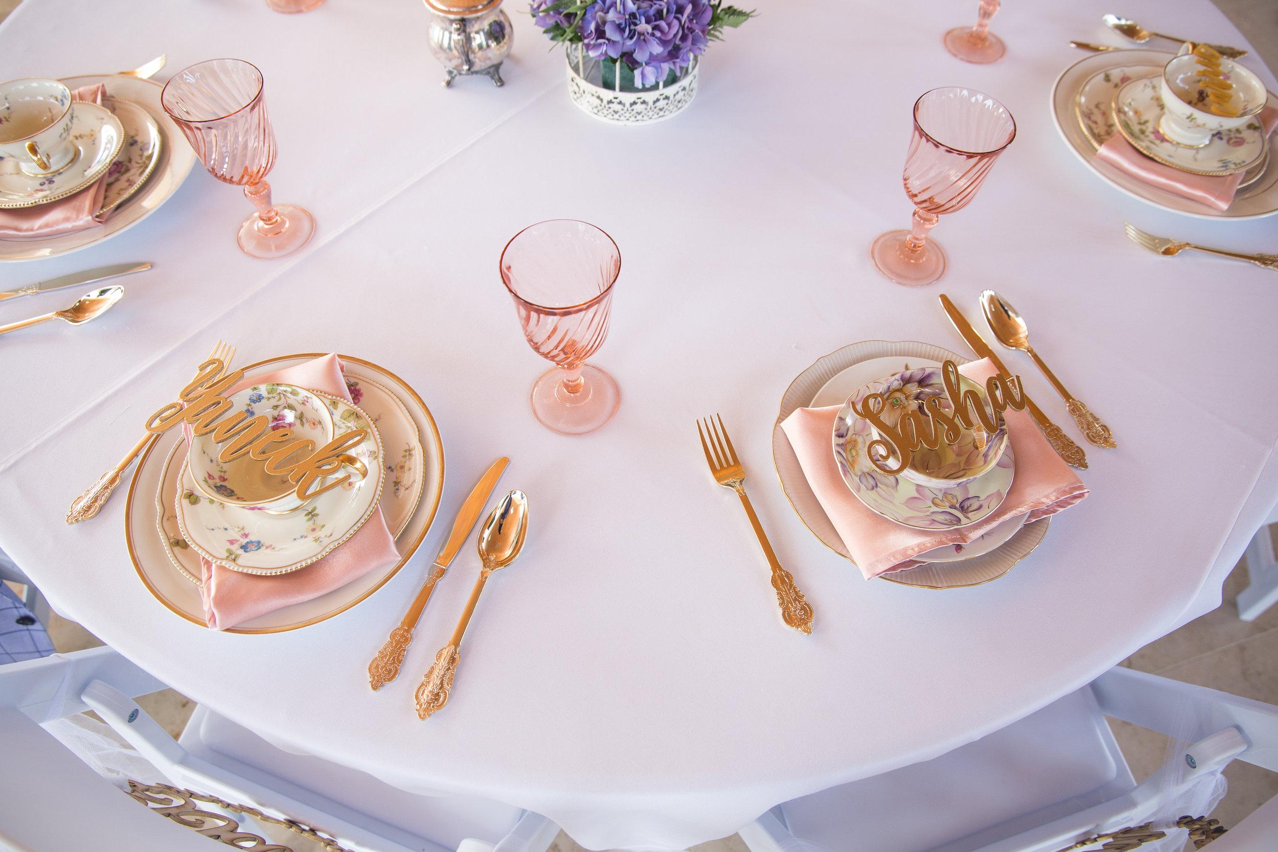 Rose Champagne Satin Napkins -$.50 each