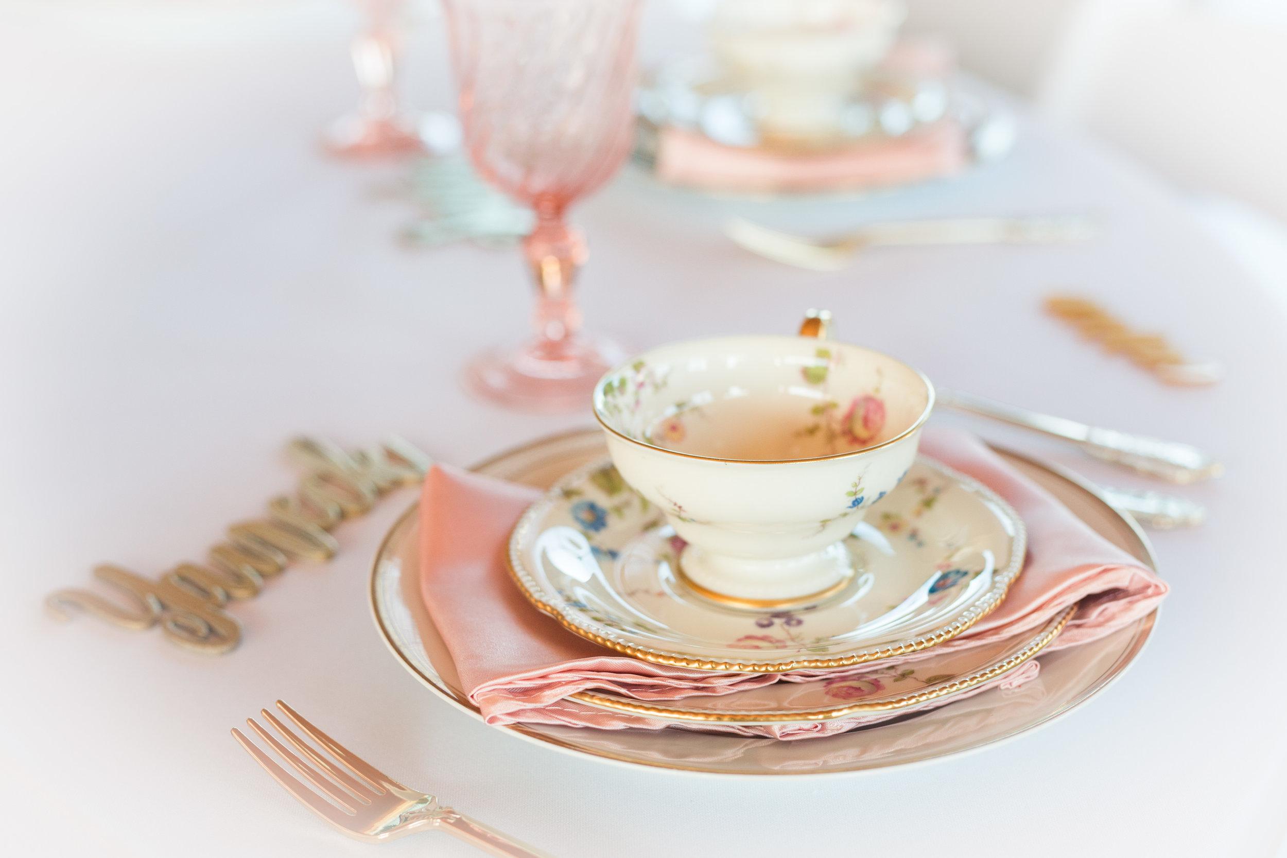 Tea Cup and Saucer Set - $3.00