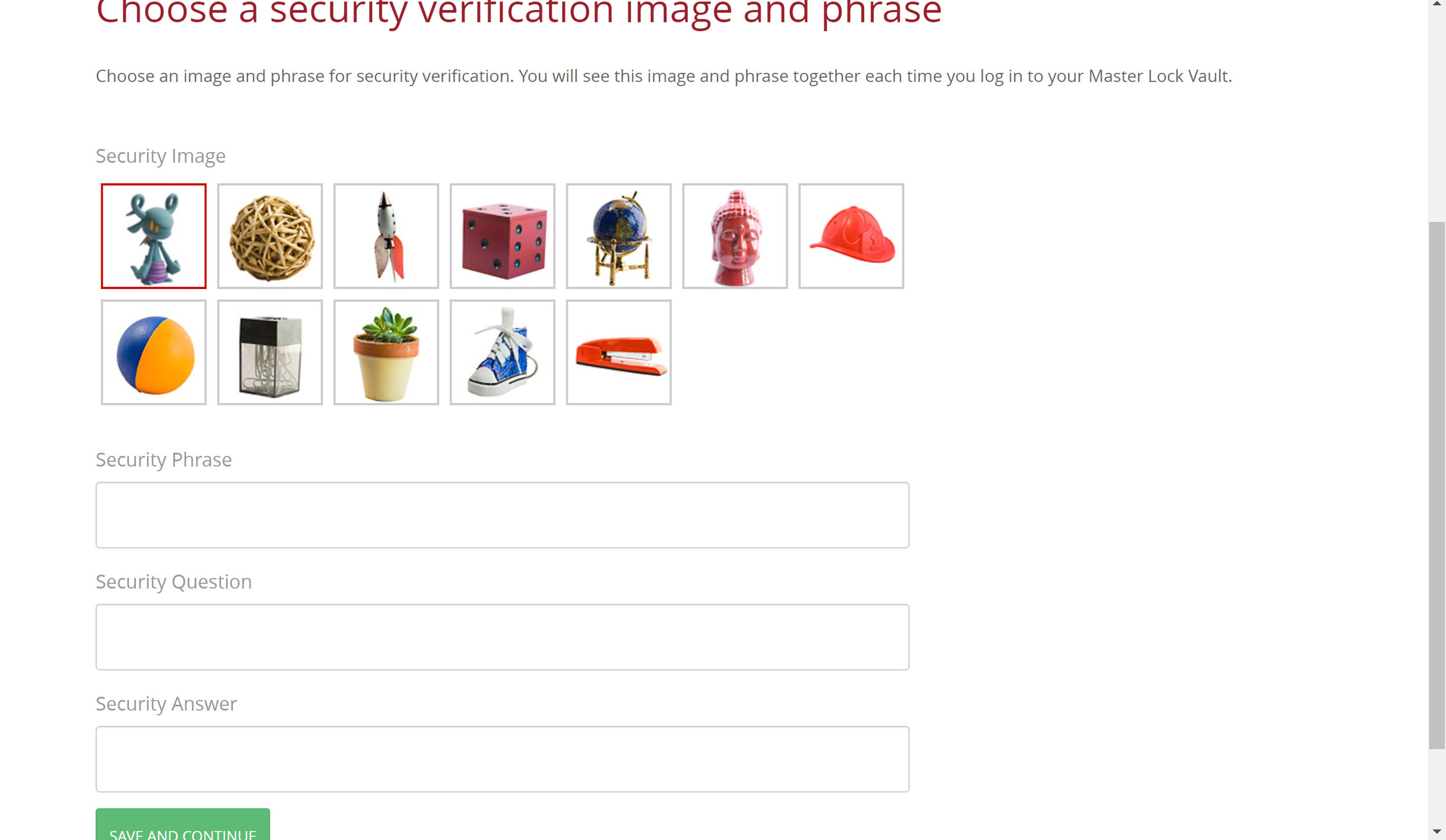 enrollment page 4 - security image and question.jpg