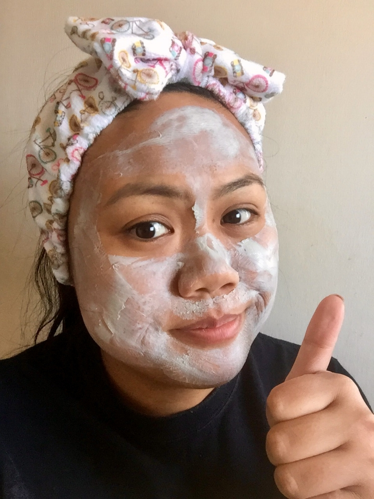 """Me after keeping my """"cool"""" for 15 minutes with the clay mask on. Trust me I've never gone this long!"""