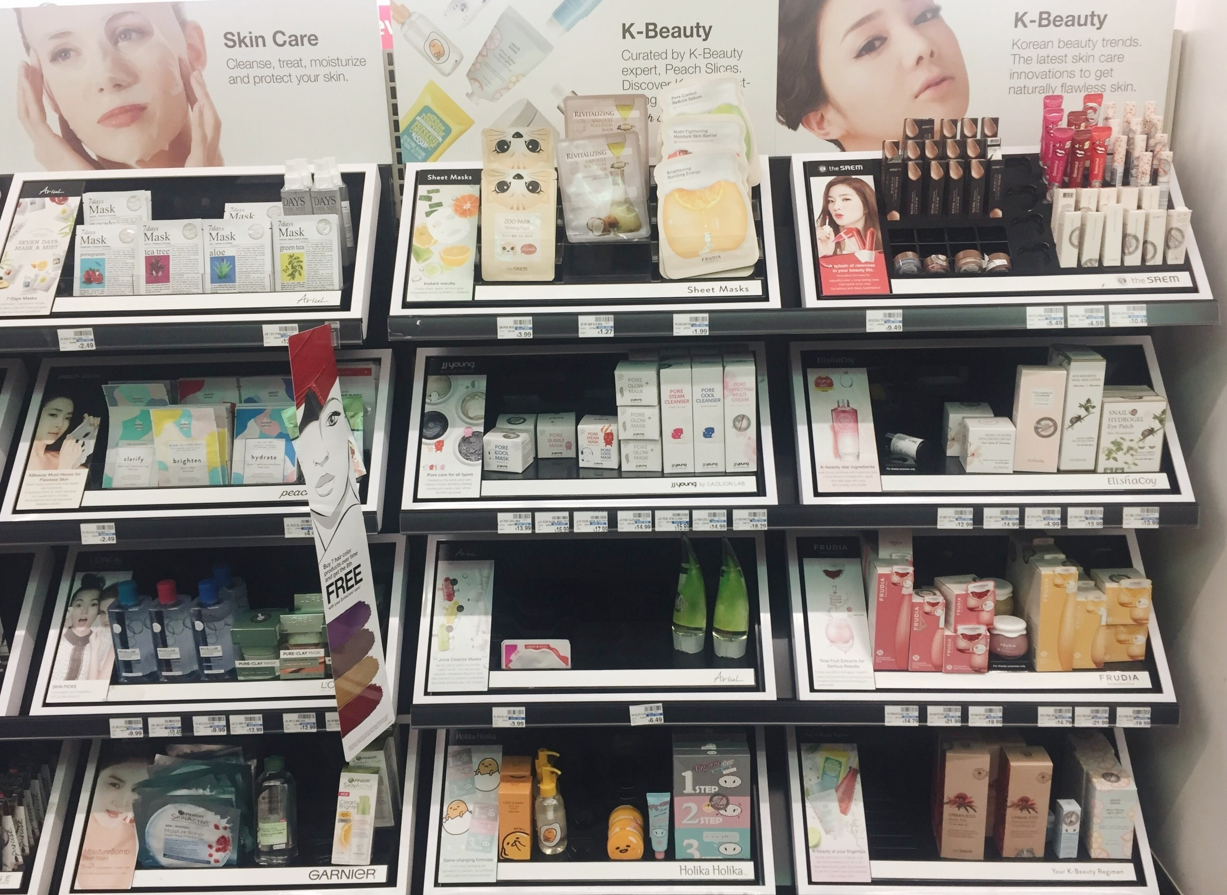 The tiny but mighty K-Beauty aisle at my new favorite CVS.