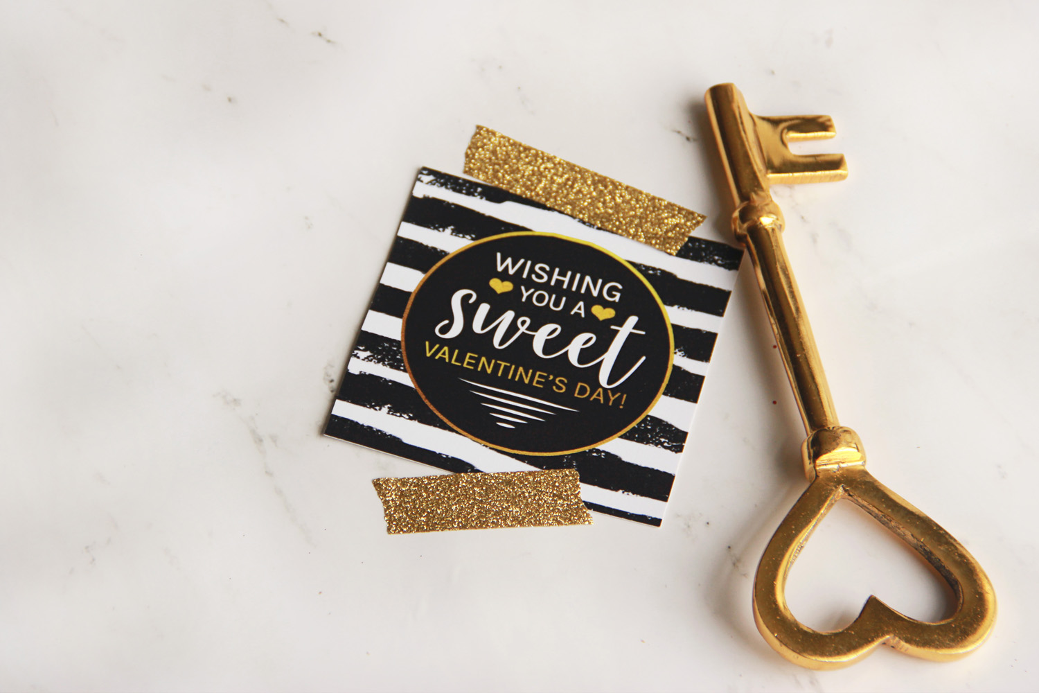 Black and Gold Valentine Tags