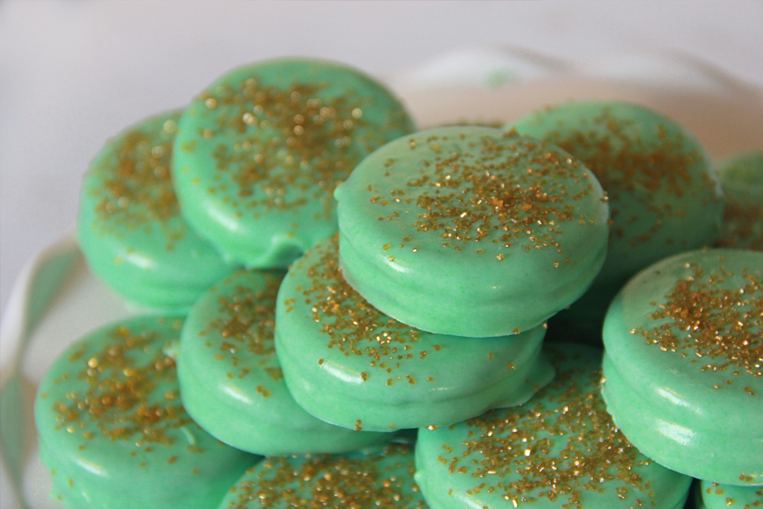 White Chocolate Covered Oreos - St. Patrick's Day