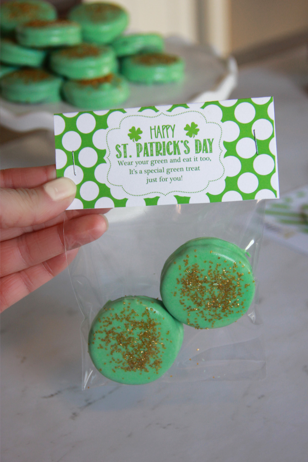 ST. Patrick's Day Treat Bag Topper