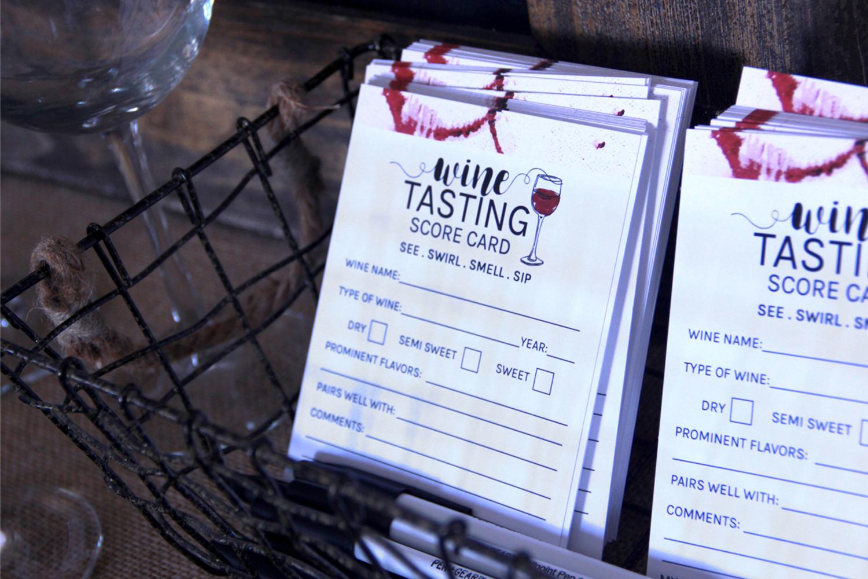 Free Wine Tasting Scorecard