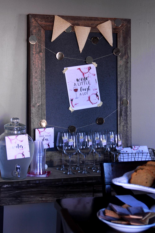 Wine Tasting Party Set Up
