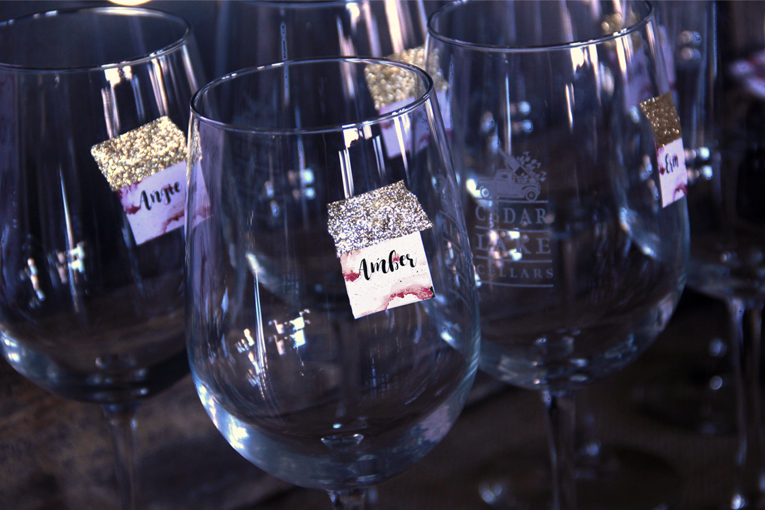 Wine Name Label Tags - Free Party Printables