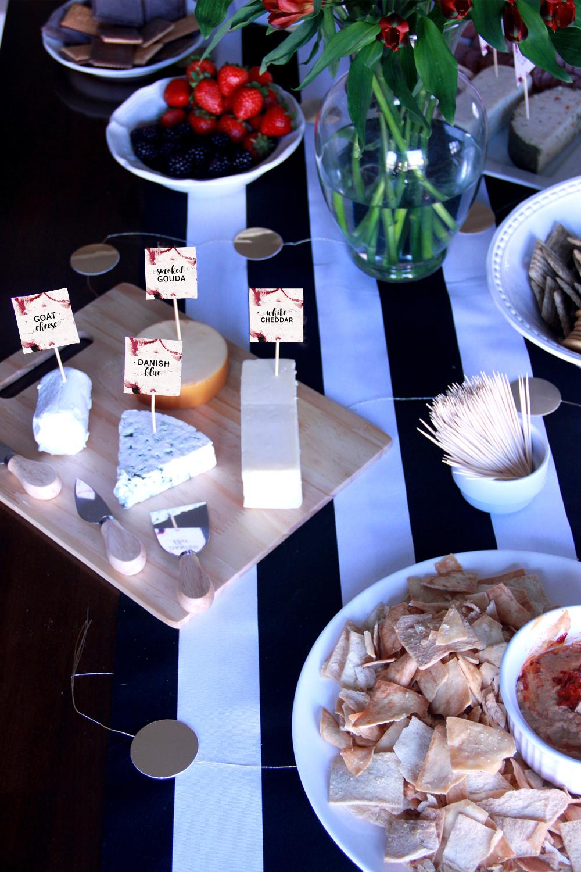 Wine Tasting Food Labels - Wine Tasting Party