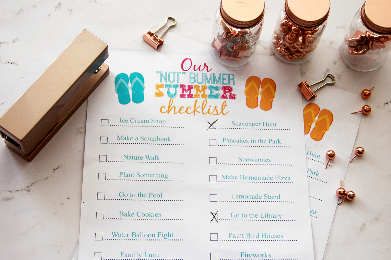Kid's Summer Fun Checklist