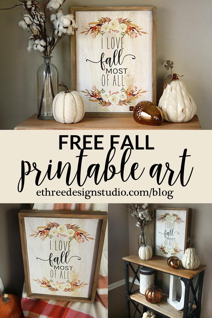 Printable Fall Art - Free