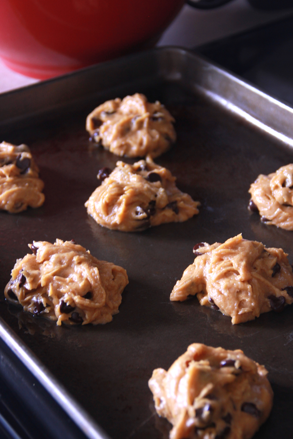 Baking Pumpkin Chocolate Chip Cookies