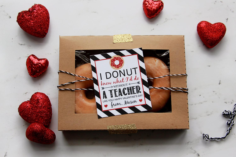 Free Donut Teacher Valentine