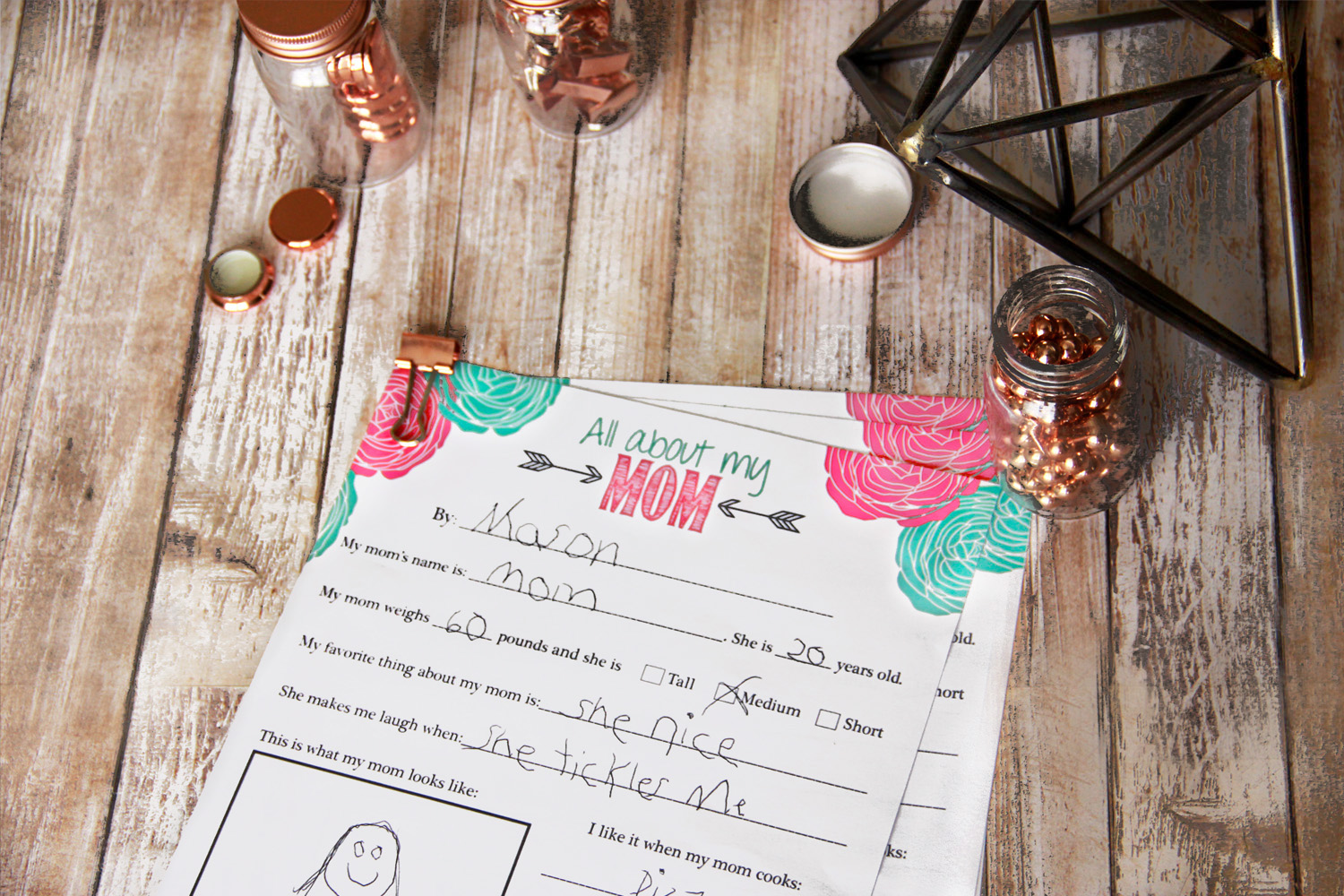 Fill in the Blanks Mother's Day Printable