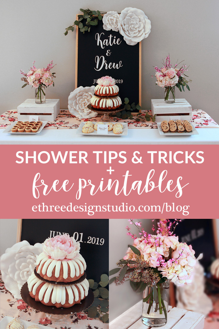 Shower Advice with Free Printables