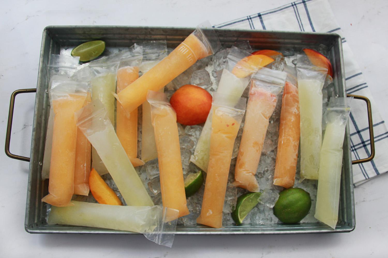 Peach and Lime Margarita Ice Pop Recipe