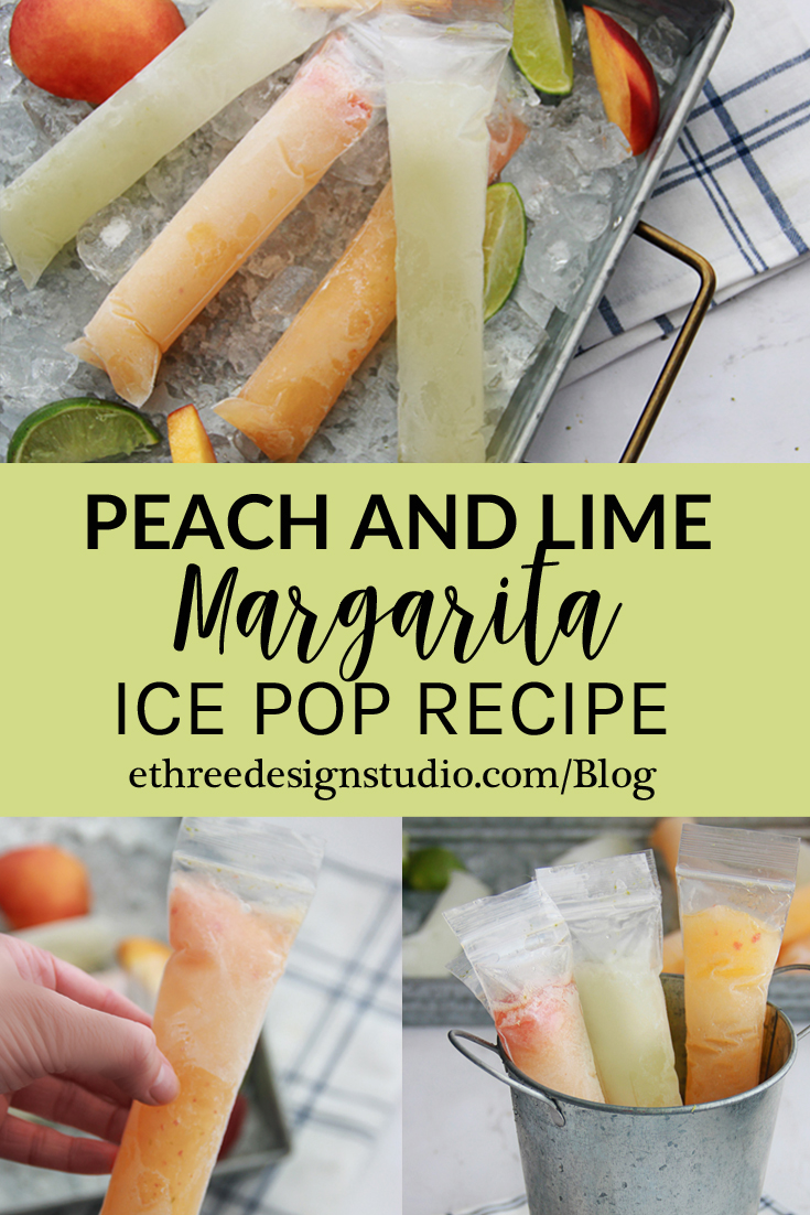 Peach and Lime Margarita Popsicle Recipe