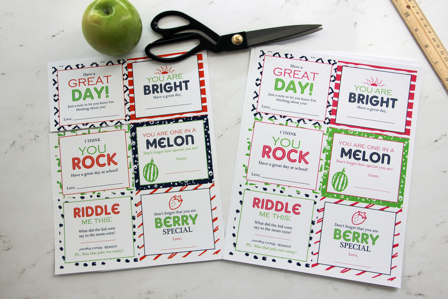 Free Printable Kid's Lunch Box Notes