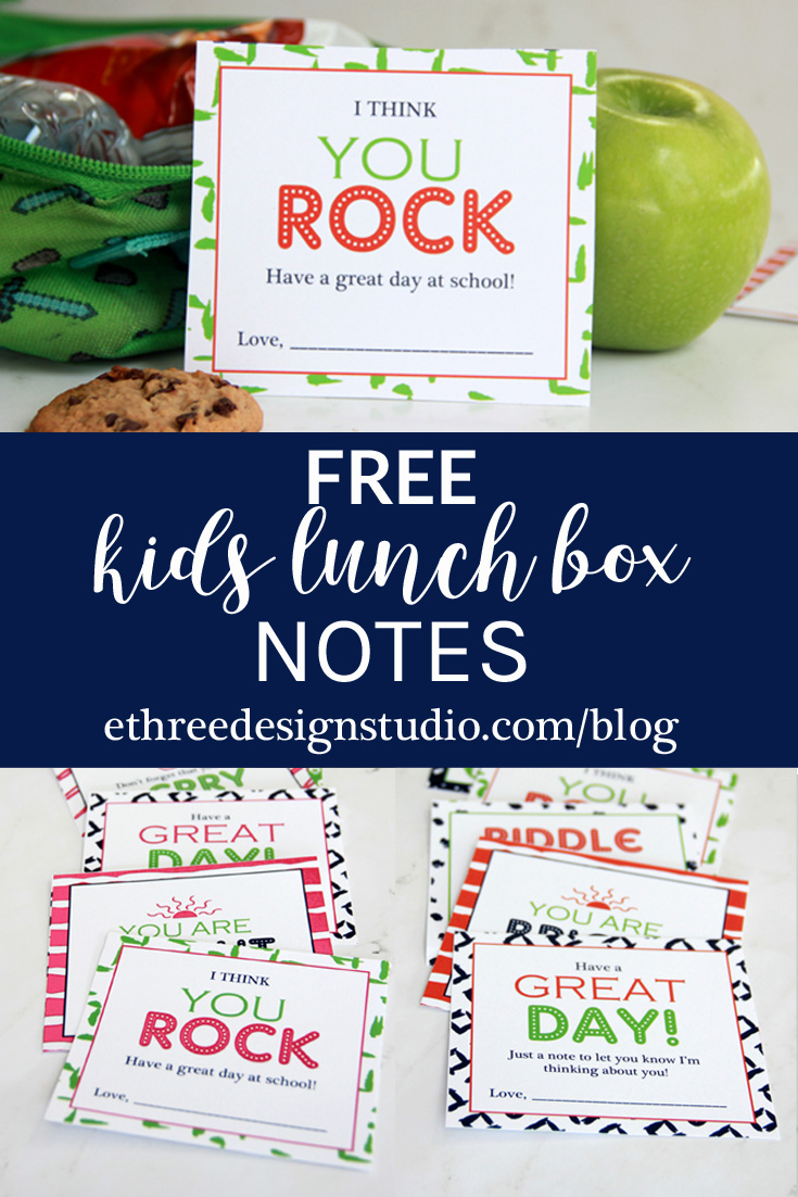 Printable School Lunch Notes