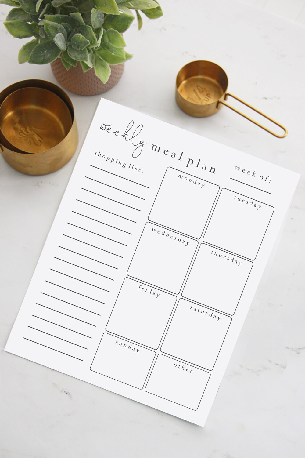 Free Meal Plan Worksheet