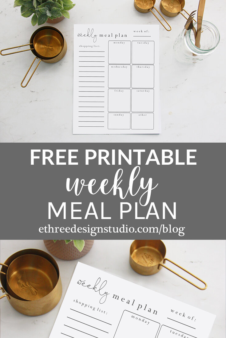 Free Meal Plan Worksheet Printable