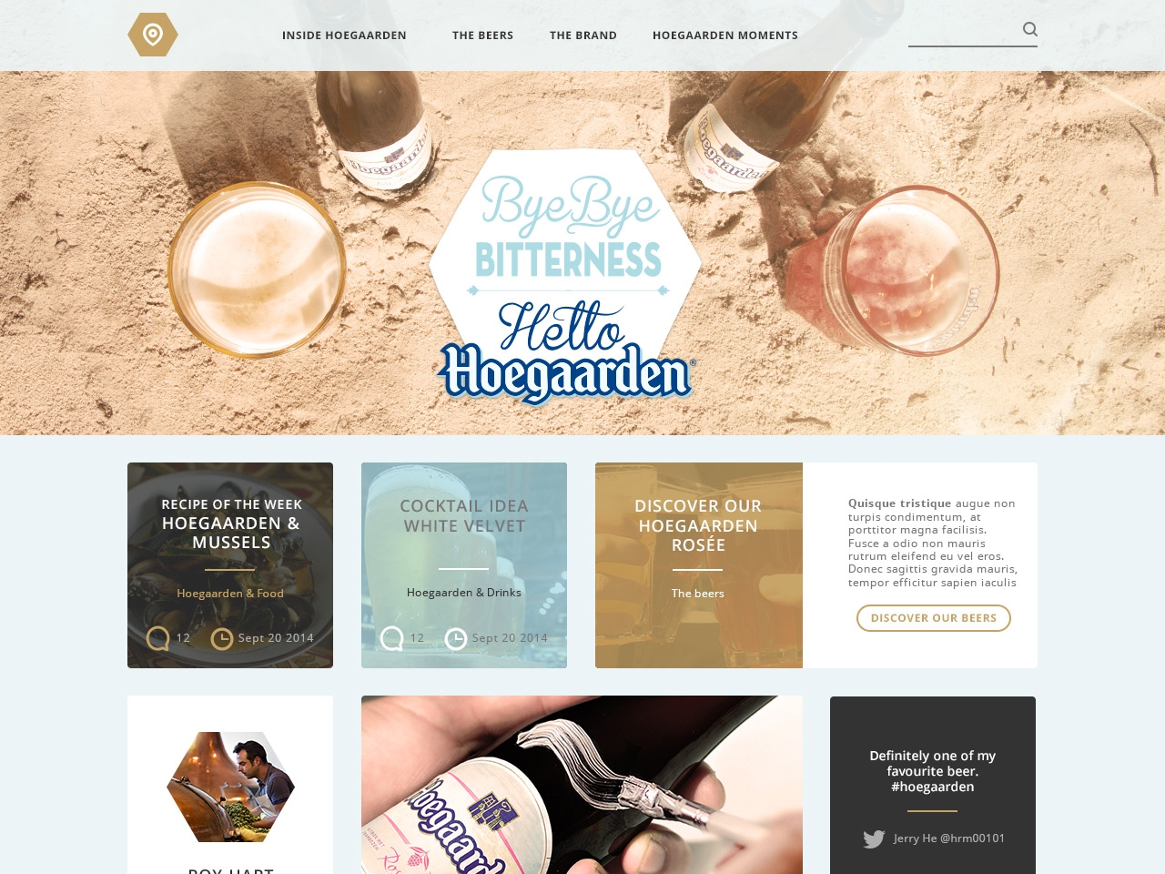 Hoegaarden - Rethinking the Hoegaarden website