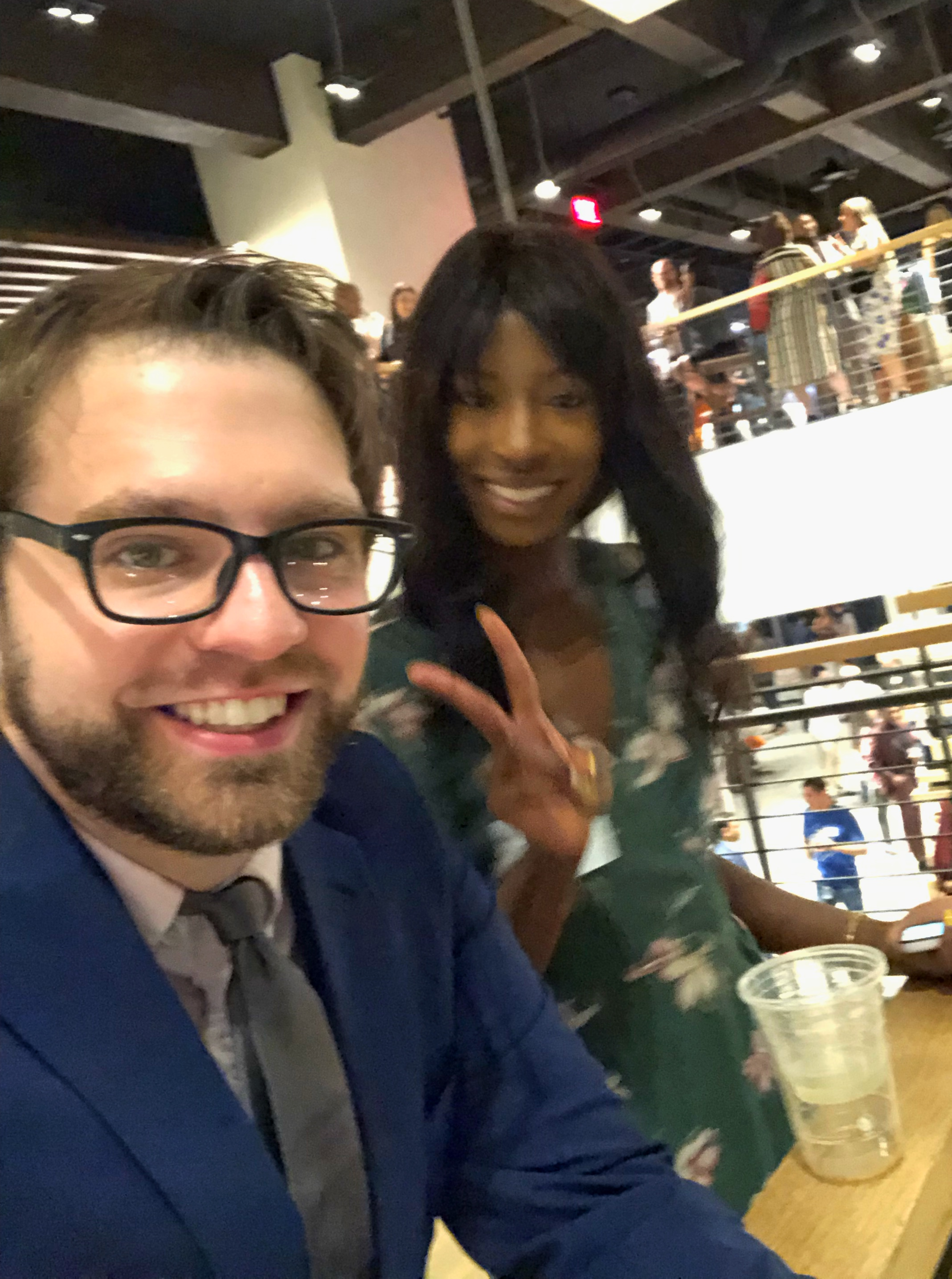 Founder, Ryan Martin, and Sierra Carter Gordon at Philadelphia Business Week's 2019 Signature event in the Comcast Technology Center.
