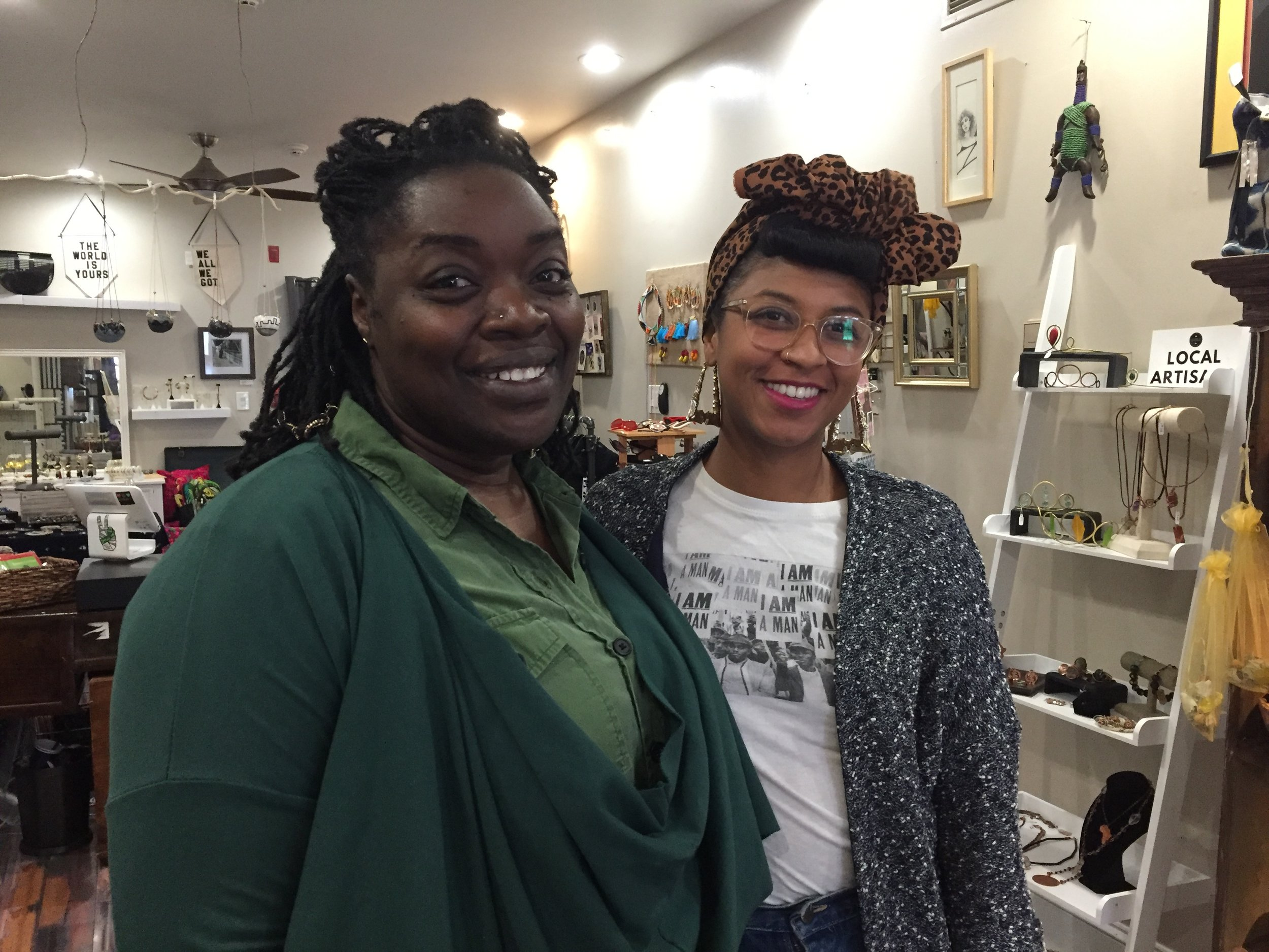 At Sable Collective with Syretta Scott and Shanti Mayers