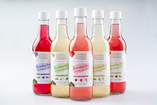 The kombucha flavours offered by Loving Foods. Don't they look pretty?