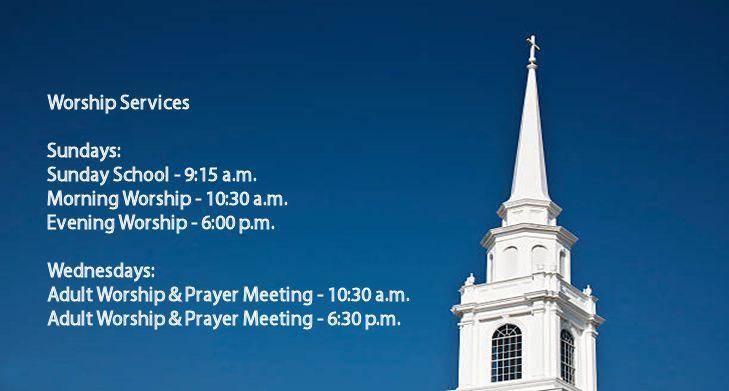 Worship Services at White Oak Baptist Church