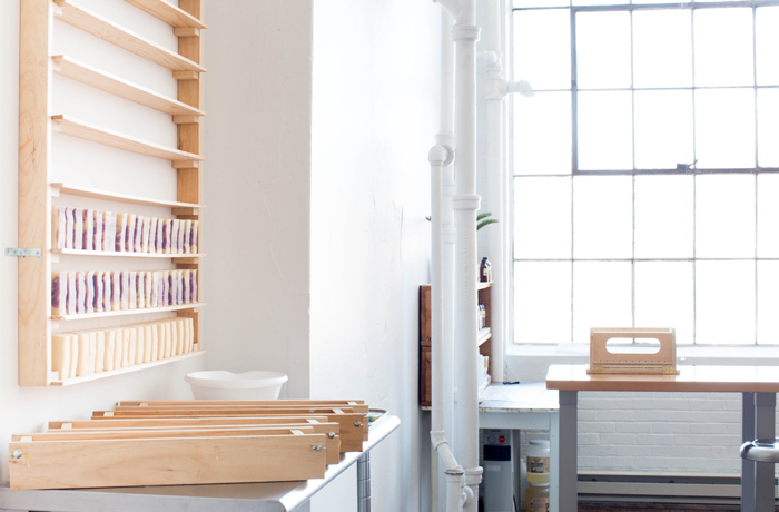 Indirect costs include setting up your soaping area, or even renting out a separate space. This gorgeous setup belongs to Shana of  Bathvs , click here to learn more about her business .
