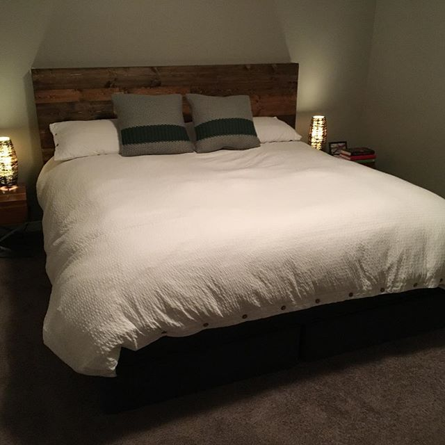 Nice little headboard we out together for a friend! #headboard #rusticheadboard #bedroomdecor #bedroom #rusticbedroom
