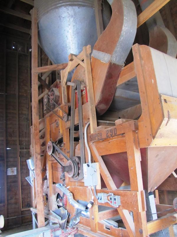 """Our seed cleaning machine, nicknamed """"Mary Ellen Carter"""""""