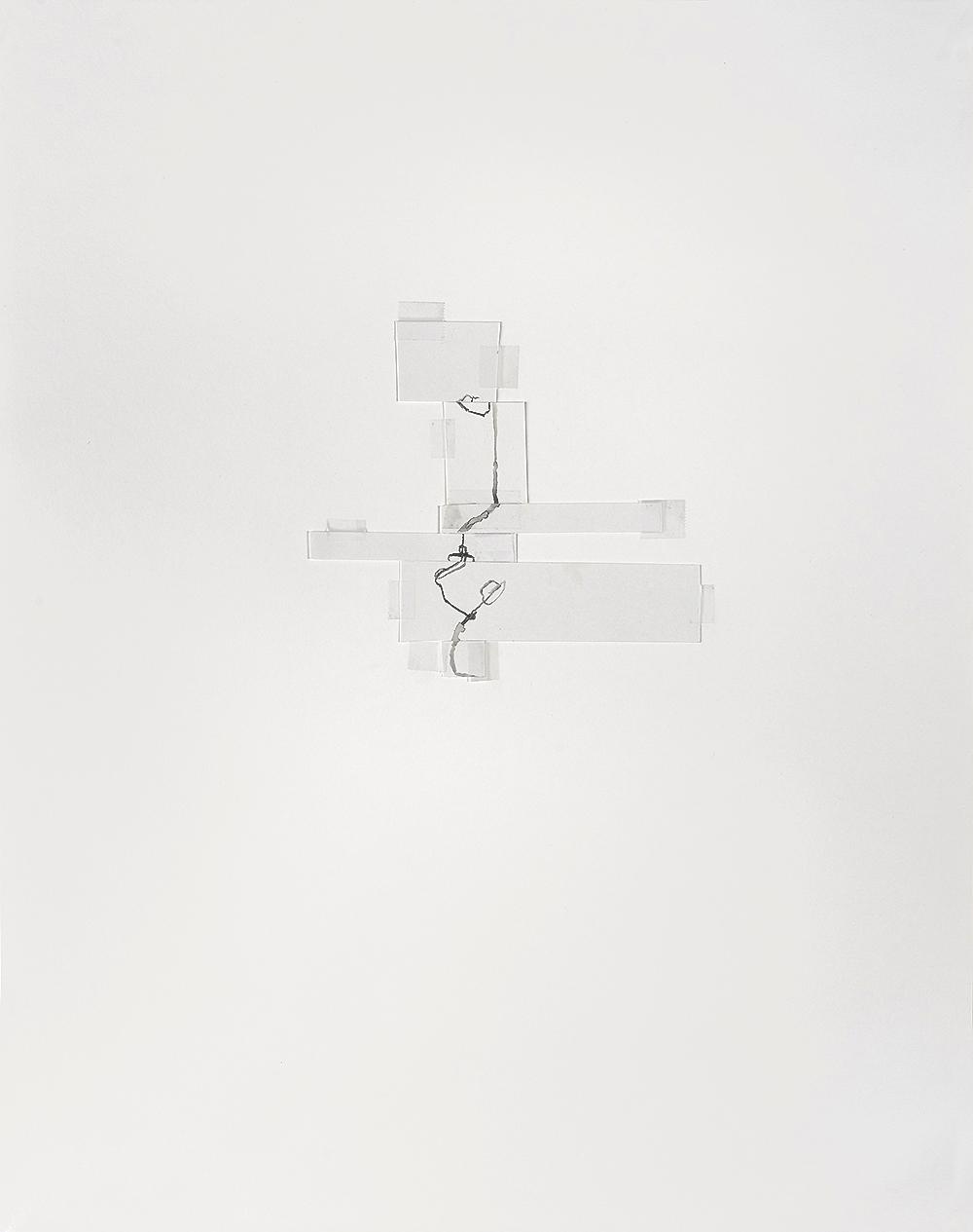 gaga,  2015 collaboration with Janine Antoni  gouache, tape, paper 22 x 16 in / 56 x 41 cm
