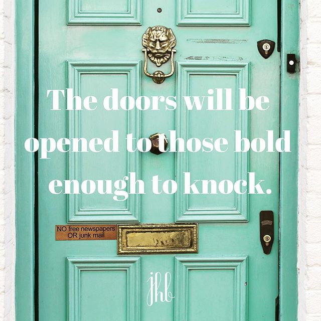 Ever feel like doors are never opening for you? Keep knocking, keep going after your goals. The door will eventually open. If the front door isn't opening. When in doubt, do something else, find a different route. The side door might be open. Just give it a try. #motivate #opendoors #yougotthis #newroute #entrepreneur #smallbusiness #buildyourbrand #sidehustle