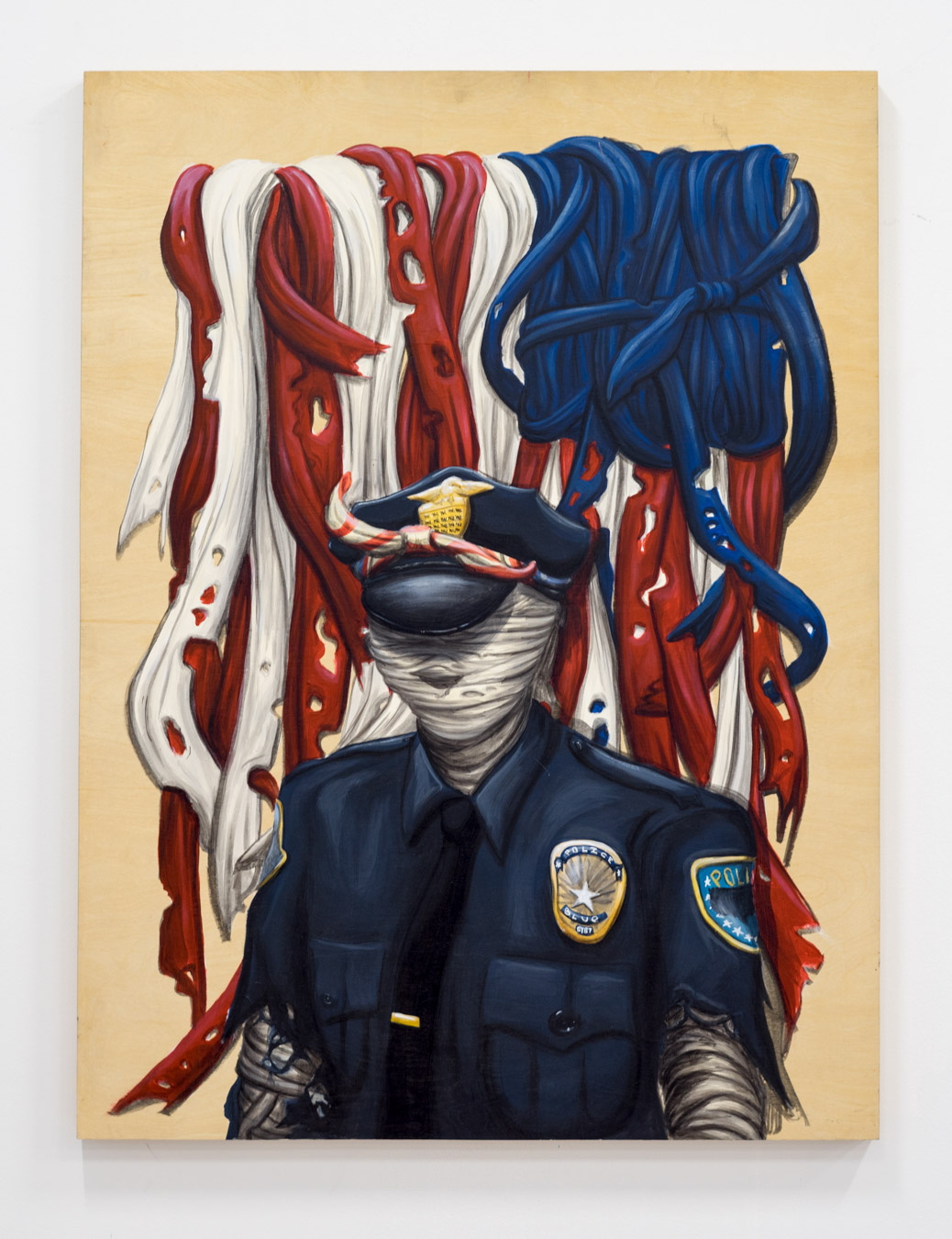 """This is a painting about police brutality"""
