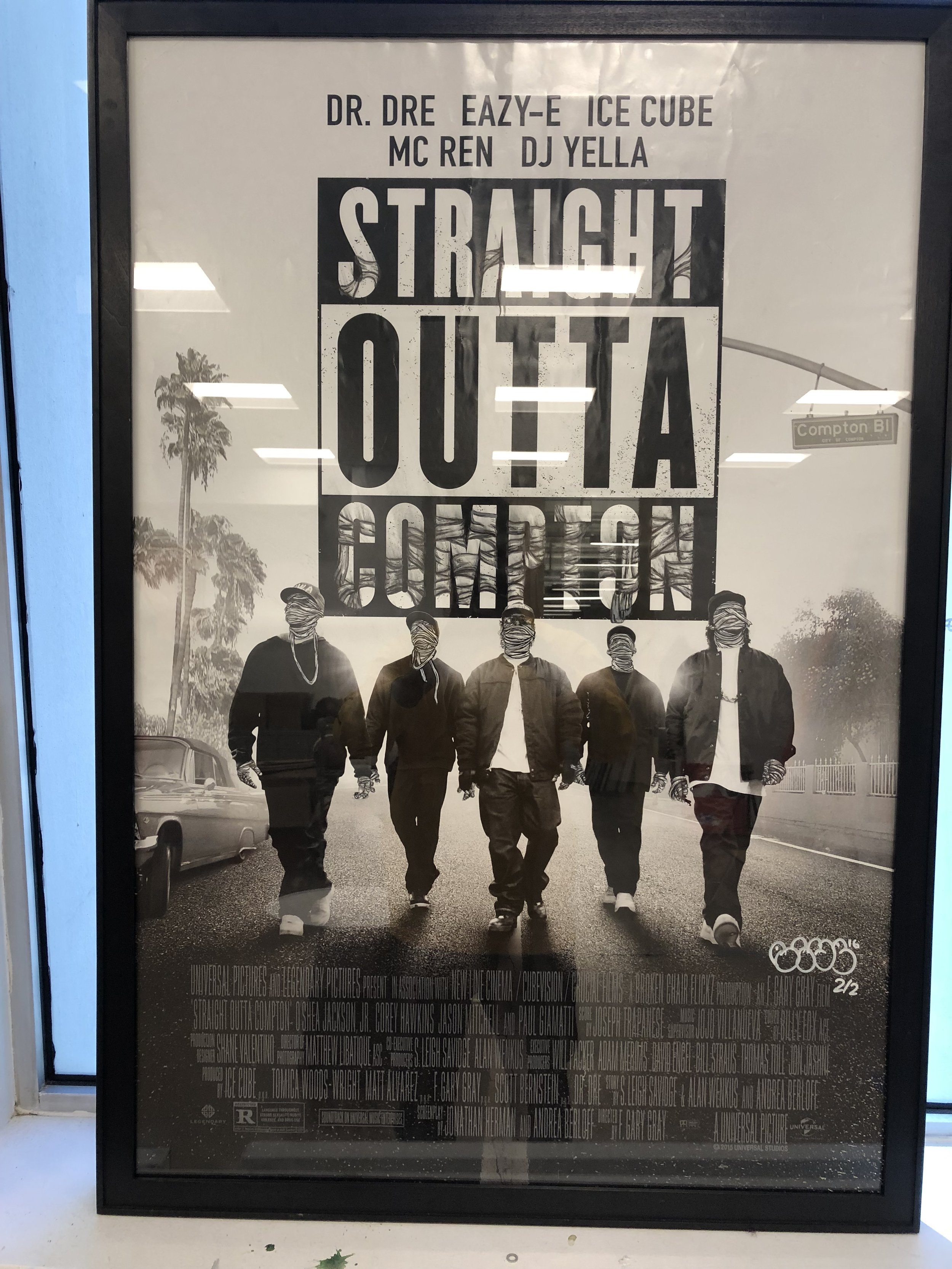 Straight out of compton poster(2 versions)