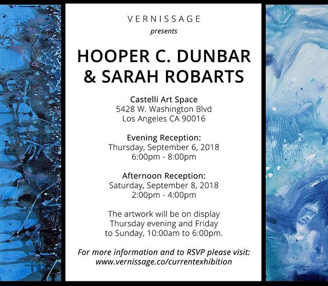 Join us and @vernissageofficial at @castelliartspace September 6-8 for an exclusive look at the work of @hooperdunbar and @sarah_robarts! . . . . #travel #travelblogger #art #fineart #painting #design #artexhibition #beautifuldestinations #adventure #lifestyle