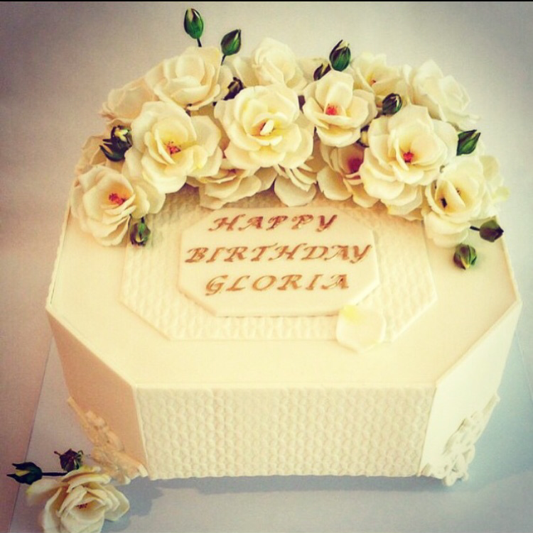 Gloria Steinem's 80th Birthday Cake @ Cipriani (sugar roses)