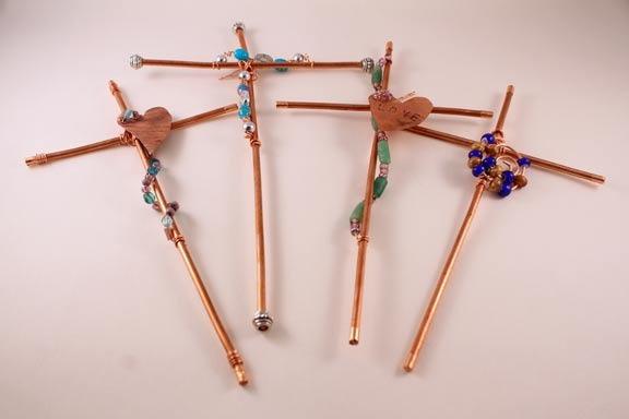 Copper Wire Crosses