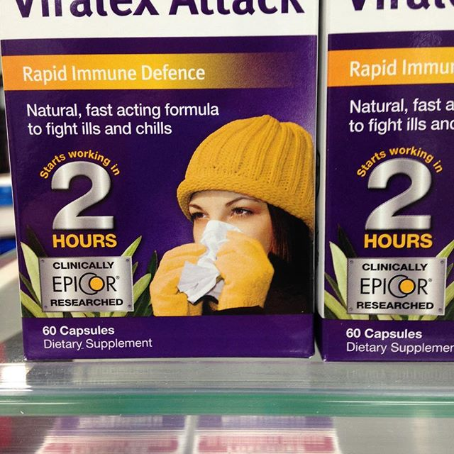 Hit that flu virus with Viralex Attack.  Comes in capsules.