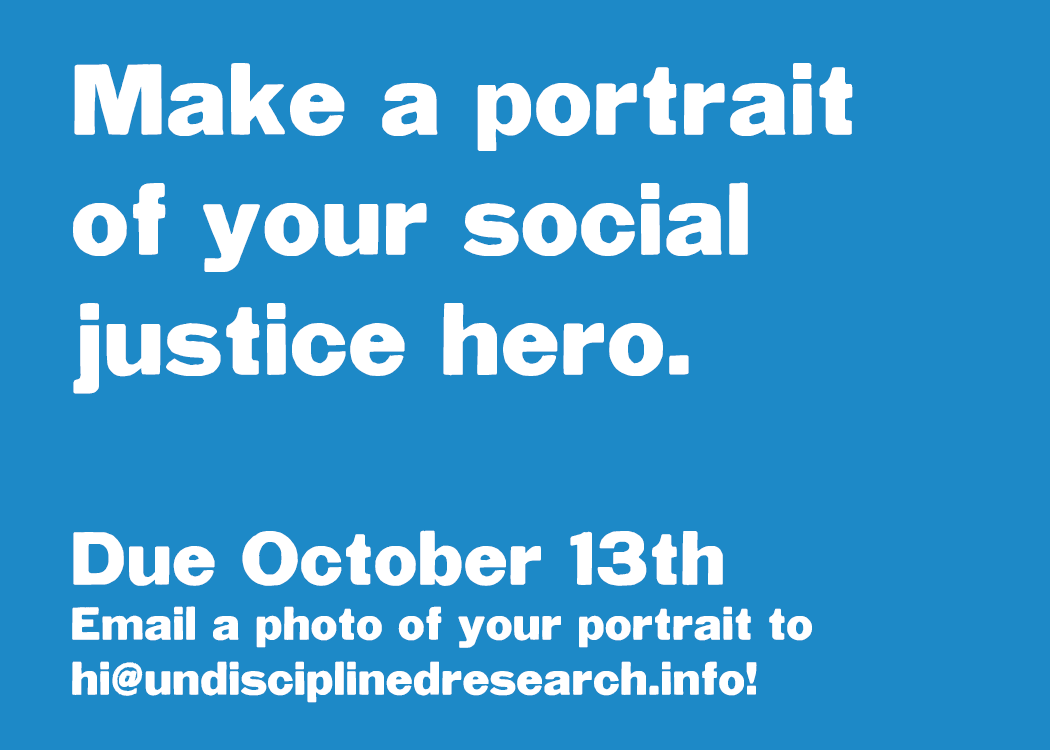 Based on one of our student's drawings of Malcolm X, I decided to host an exhibition of drawings of all of our social justice heroes. Please submit an image of your portrait by this Friday October 13th!