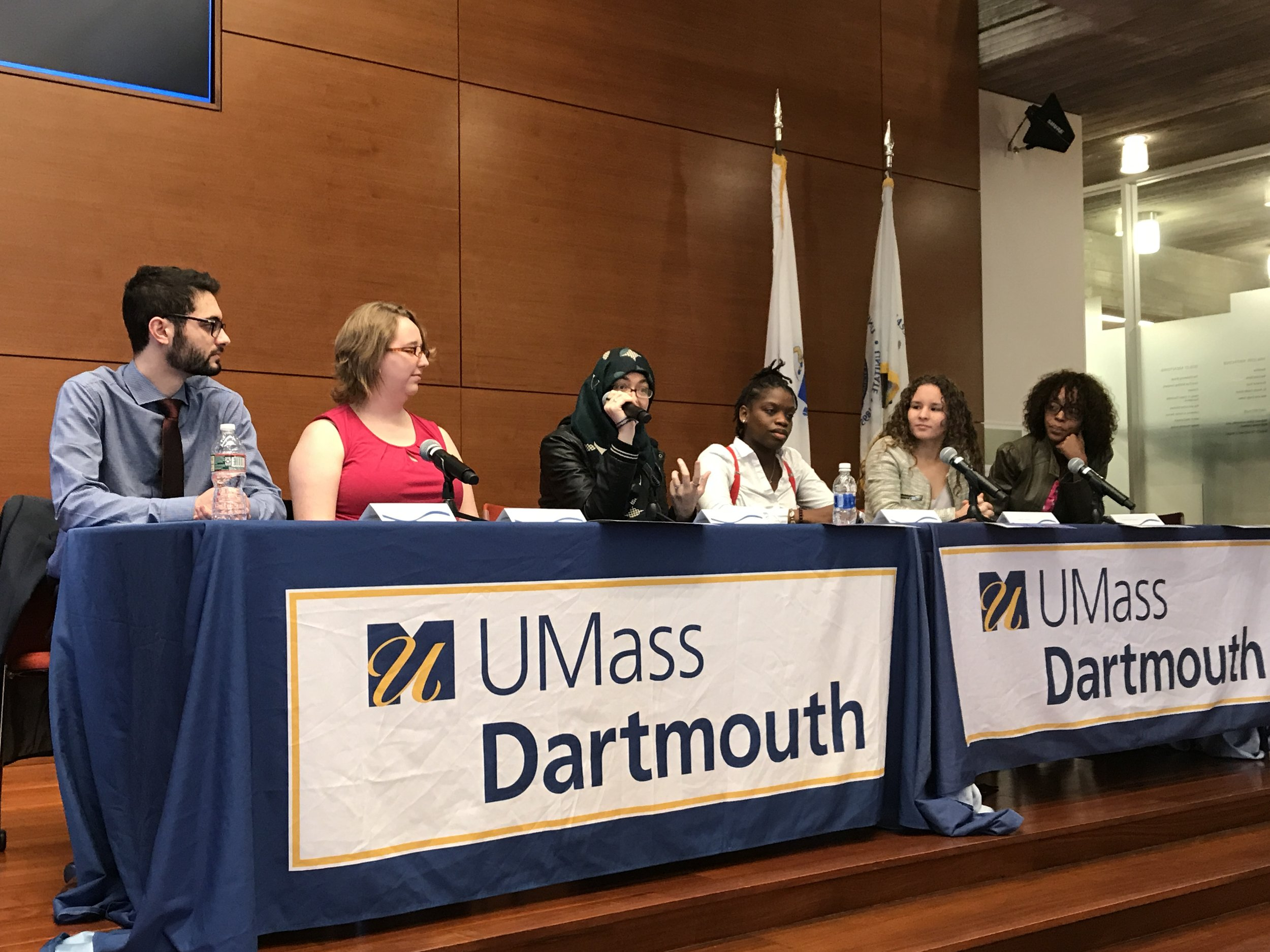 There was a great panel about Shared Voices featuring some of the students who participated. They discussed their views on social justice and making space for political dialogues.