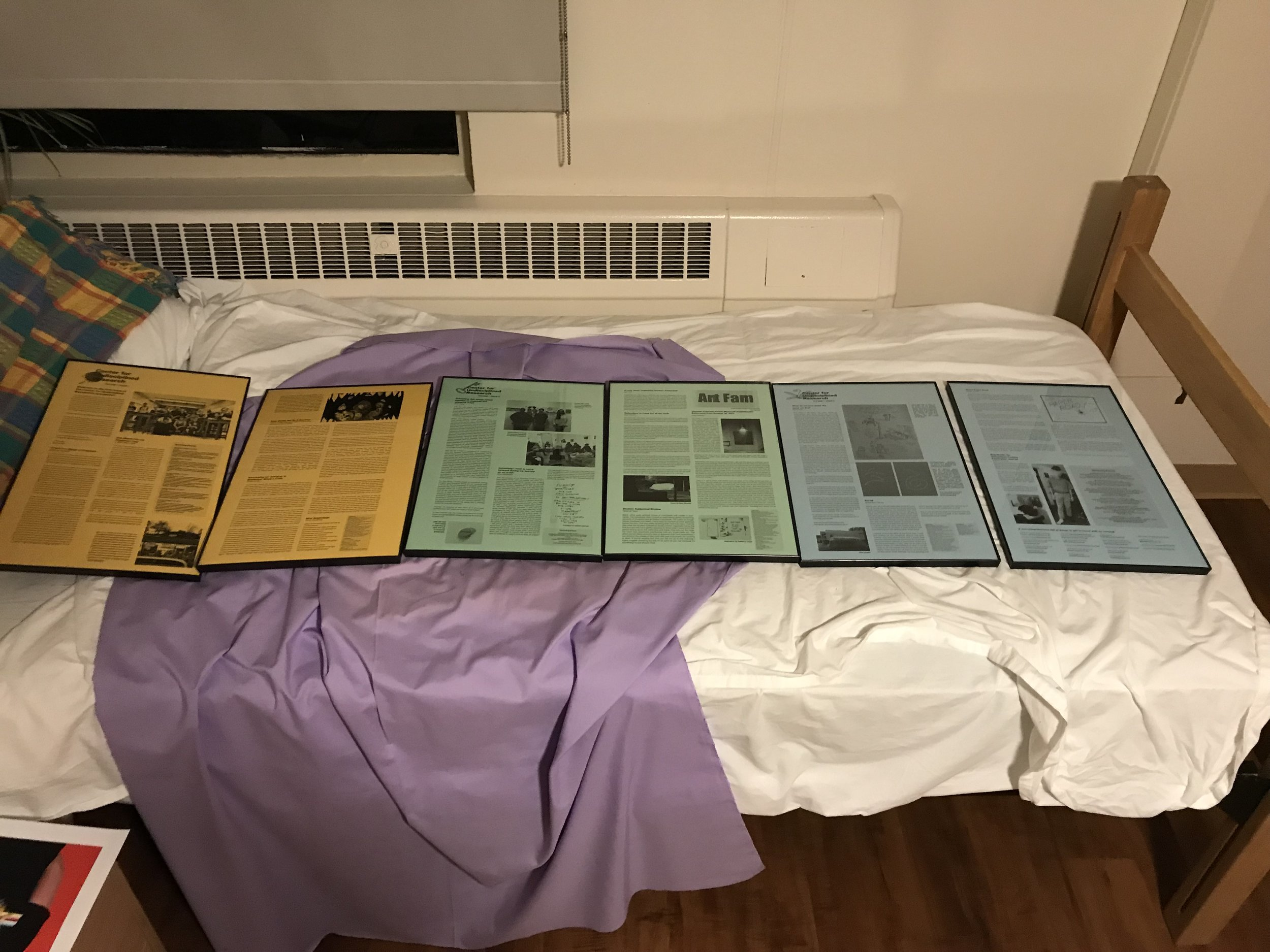 "The first three issues of our newsletter, designed by Rachael Abrantes, will be on display starting tomorrow as part of the ""Takes Two"" exhibition of faculty work at UMass Dartmouth's University Gallery in CVPA!"