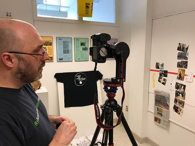 Michael Swartz in the archive today helping to document it with 360 pictures and videos!!!! 🎉
