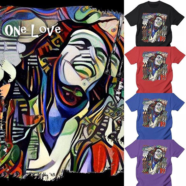 I've learned that people will forget what you said, people will forget what you did, but people will never forget how you made them feel.  #OneLove Inspired by #BobMarley ❤️💛💚 #linkinbio #music #reggae #rasta  diannemeinke.threadless.com/designs/one-love-by-dianne