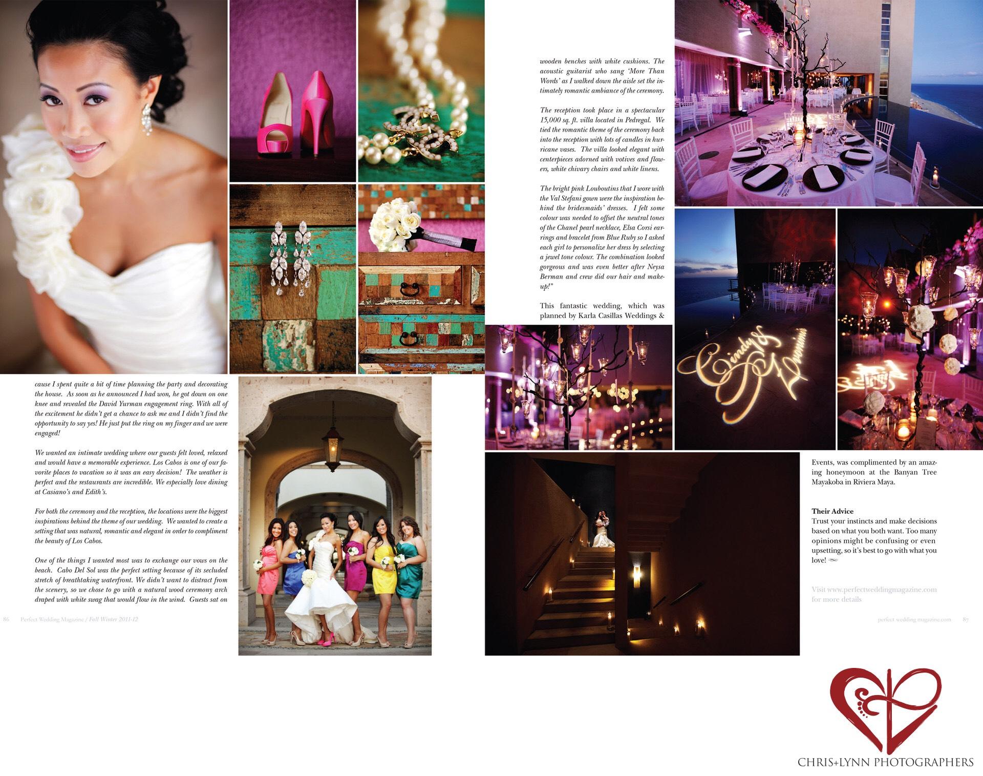 Perfect Wedding Magazine spread featured Karla Casillas and Co..jpeg